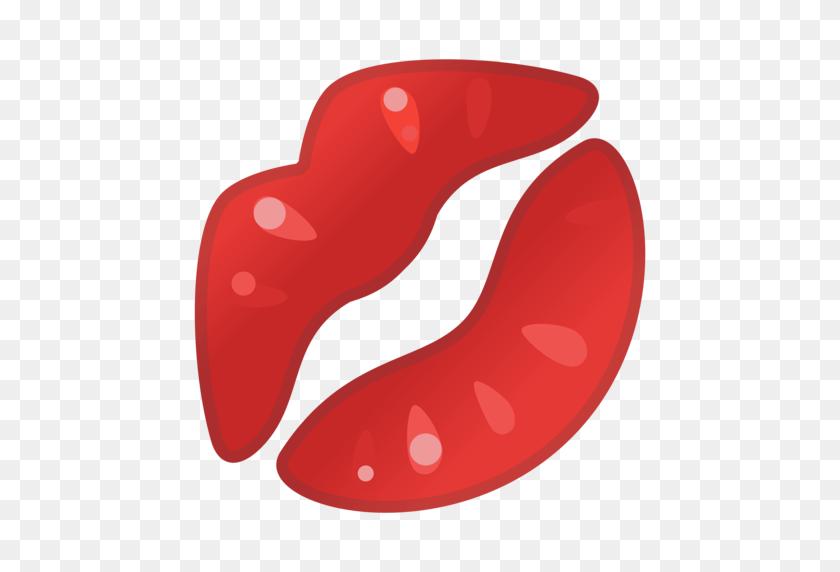 Kiss Mark Emoji - Labios PNG