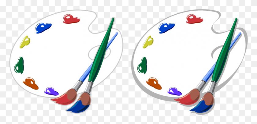 Kisscc0 Brush Painting Artist Palette Artists Brushes And Palettes - Paint Pallet Clipart