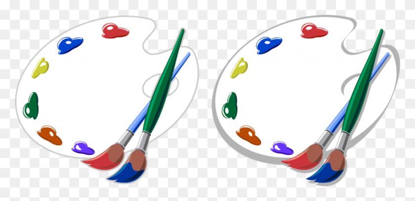Kisscc0 Brush Painting Artist Palette Artists Brushes And Palettes - Palette Clipart