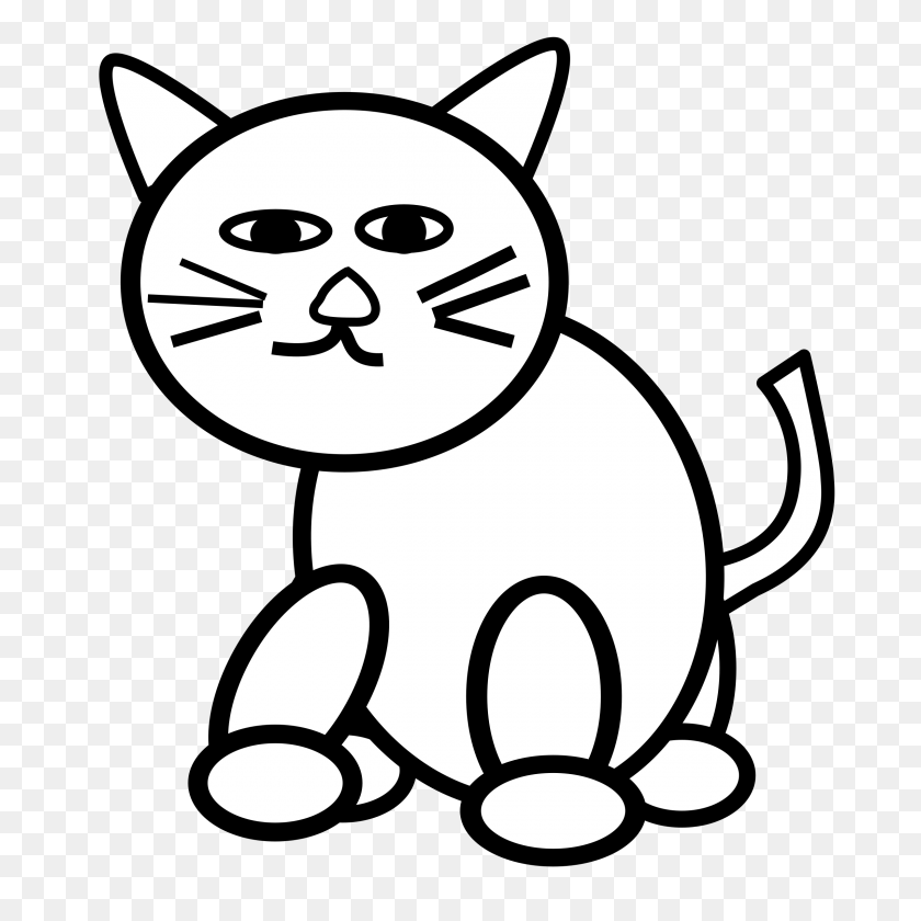 Kitten Clipart Black And White Cat Archives Health Clubs - Free Clipart Kitten