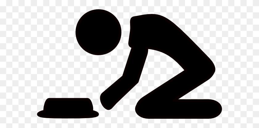Kneeling Man Clip Art - Poor Man Clipart