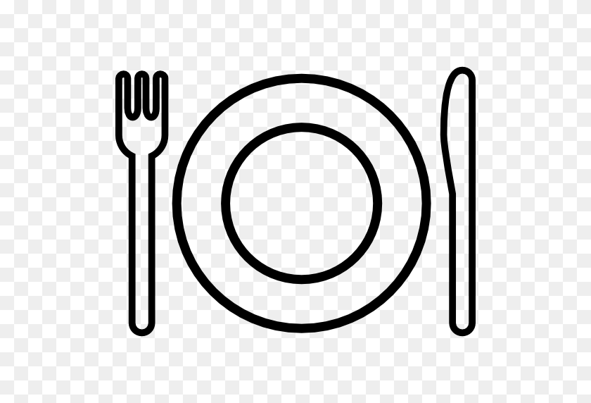 Plate and silverware Royalty Free Vector Image