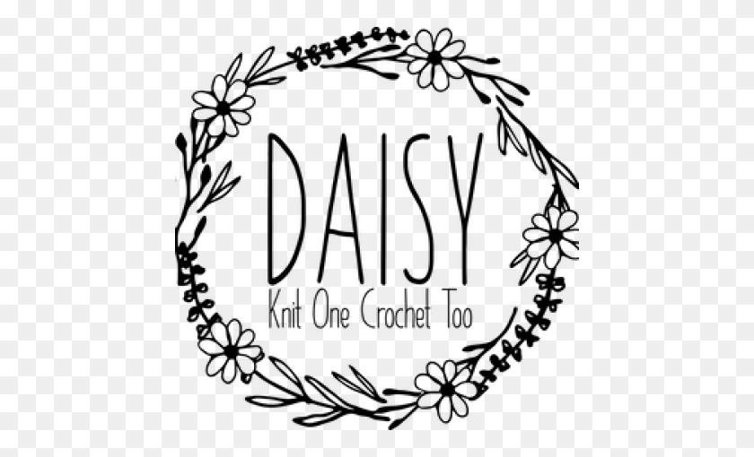 Knit One, Crochet Too Daisy - Yarn And Crochet Hook Clipart