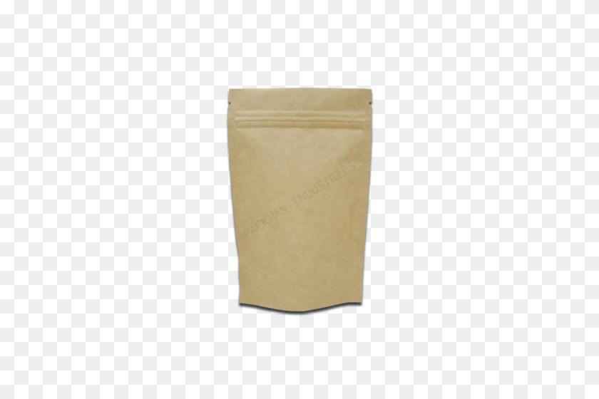 Kraft Paper Standup Zipper Pouch - Piece Of Paper PNG