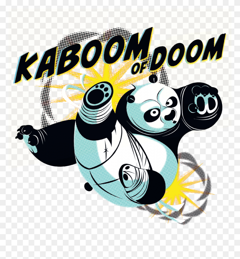 Kung Fu Panda Kaboom Of Doom Men's Tank - Kung Fu Panda Clipart