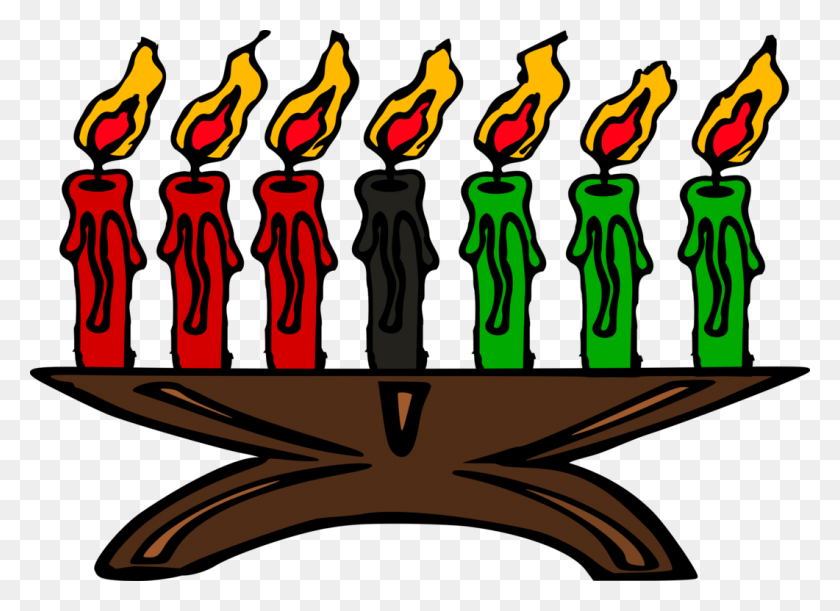 Kwanzaa Kinara Candlestick Menorah - Menorah Clipart