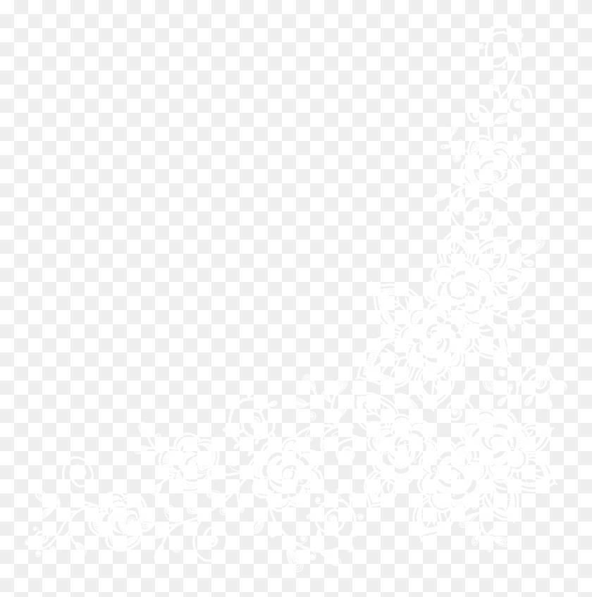 Lace Corner Png Clip Art - White Lace Border Clipart