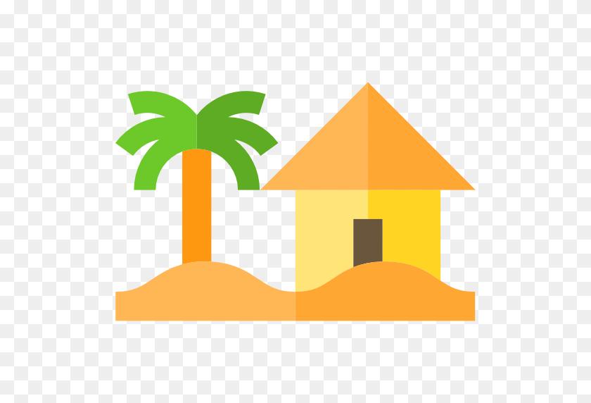 Landscape, Palm Tree, Beach, House, Nature Icon - Palm Tree Beach Clip Art