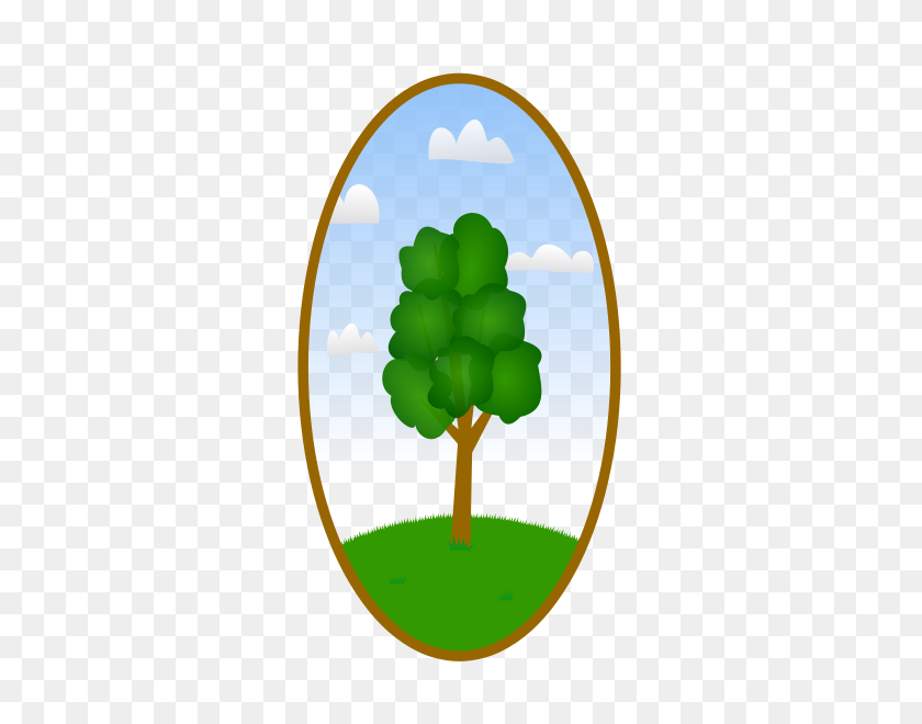 Landscaping Clipart Tree, Set Of Different Green Trees, Shrubs - Landscaping Clipart Free