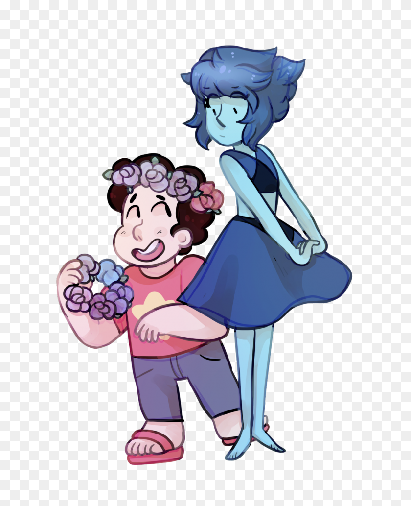 1280x1598 Lapis Learns About Flower Crowns Steven Universe Know Your Meme - PNG Flower Crown