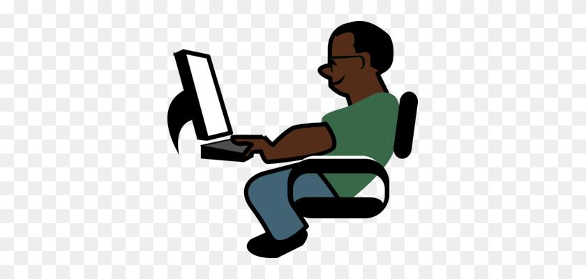 Laptop Computer Logo Man Sitting - Man Sitting Clipart