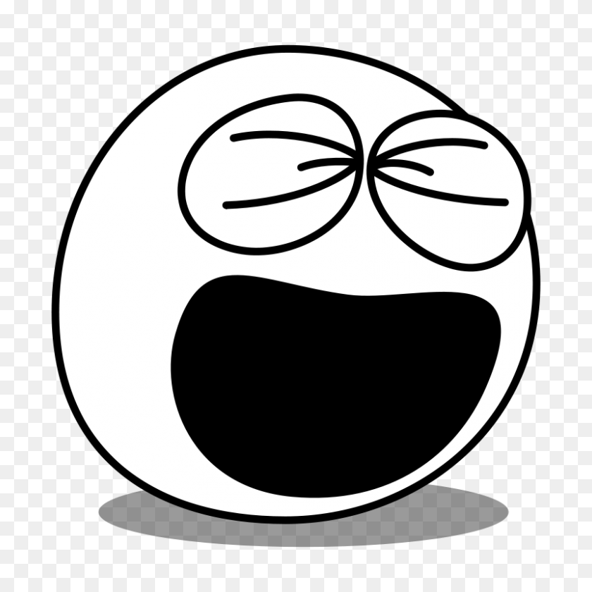 Laughing Clipart - Person Clipart Black And White