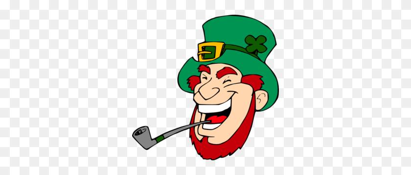 Laughing Leprechaun Clip Art - Leprechaun Hat Clipart