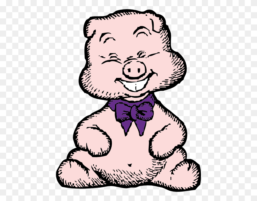 Laughing Pig Clip Arts Download - Pig Image Clipart