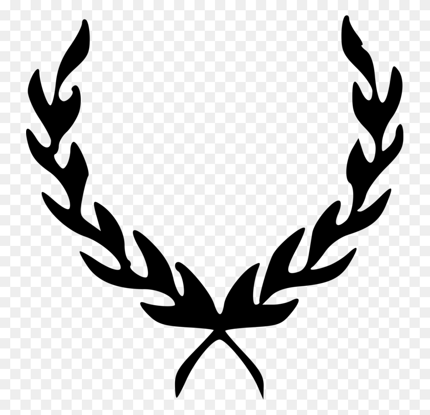 Laurel Wreath Bay Laurel Download Drawing - Wreath Clipart Black And White