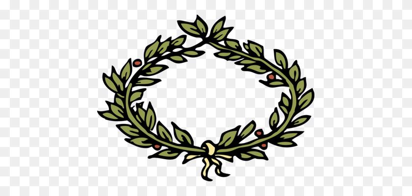 Laurel Wreath Bay Laurel Gold Crown - Olive Wreath Clipart