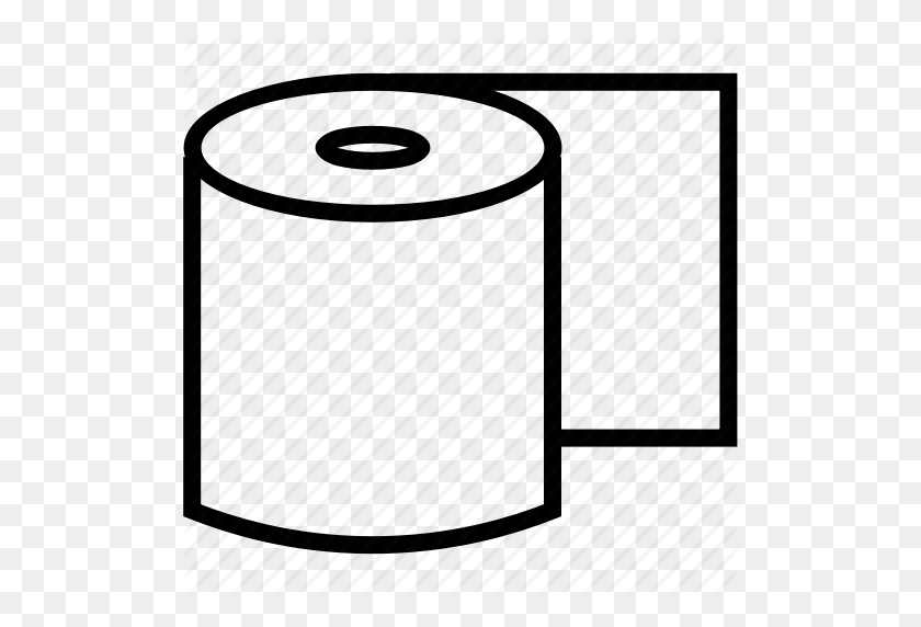 Lavatory Paper, Paper Roll, Restroom, Toilet, Toilet Paper, Toilet - Toilet Paper Roll Clip Art