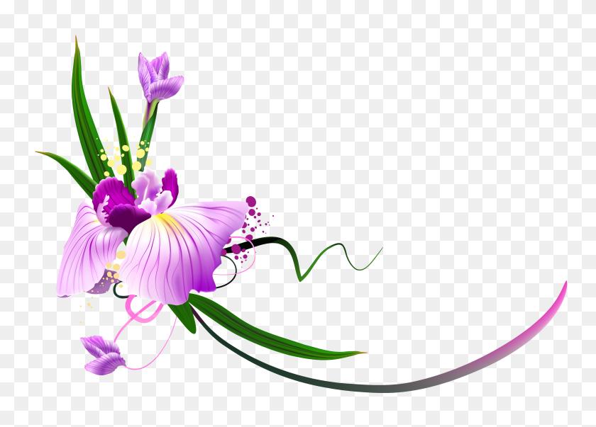 3790x2642 Lavender Flower Border Clipart - Free Floral Border Clipart
