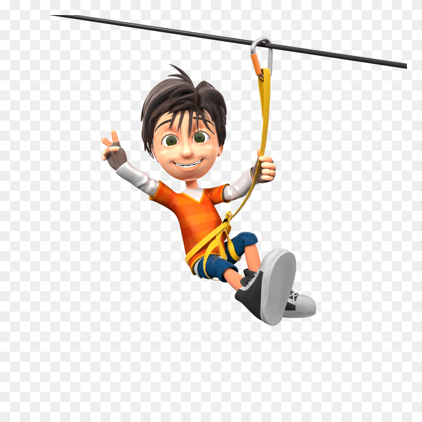 Le Grand Defi Tree Top Trails - Ropes Course Clipart