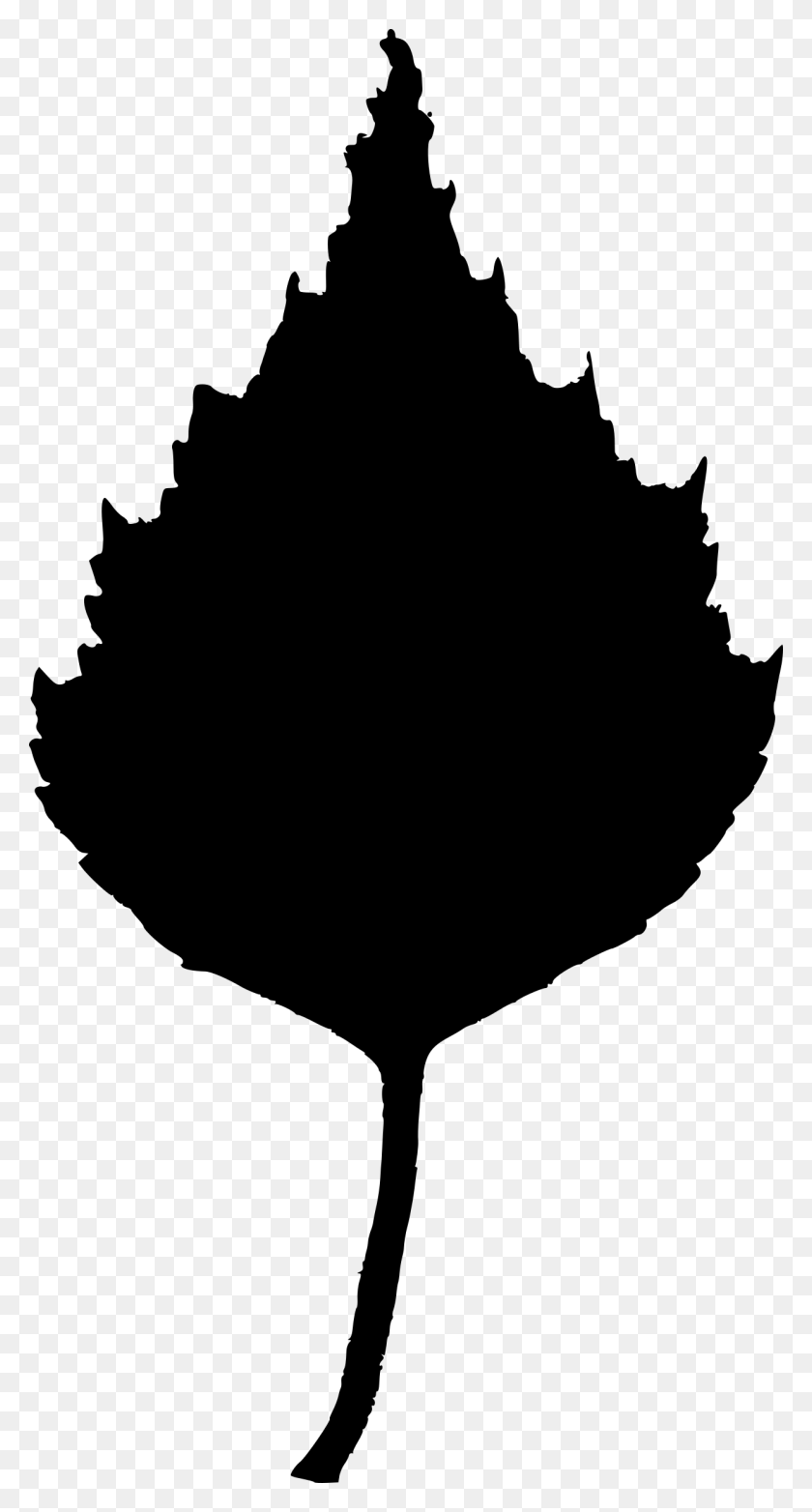 Leaf Clip Art Silhouette - Silver Snowflake Clipart