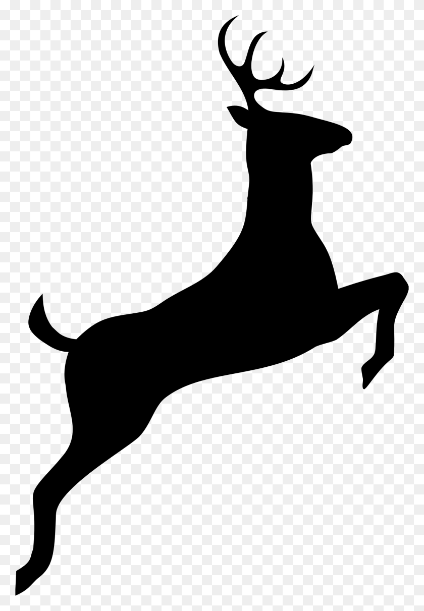 Leaping Deer Silhouette Icons Png - Deer Silhouette PNG