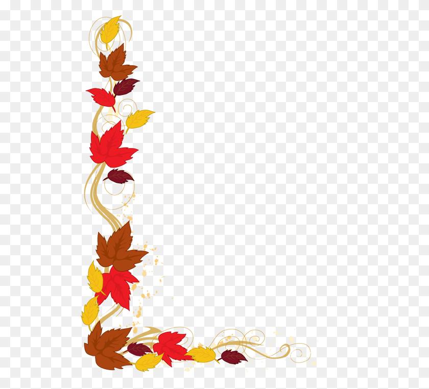 523x702 Leaves Border Clip Art - Free Flower Border Clipart
