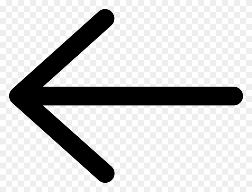 981x727 Left Arrow Sign Png Icon Free Download - Arrow Sign PNG