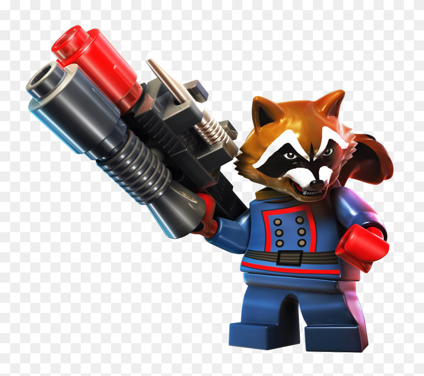 Lego Captain America And Guardians Of The Galaxy Incoming! Boxmash - Rocket Raccoon PNG