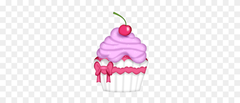 Lets Have Cake Cupcakes - Pink Cupcake Clipart