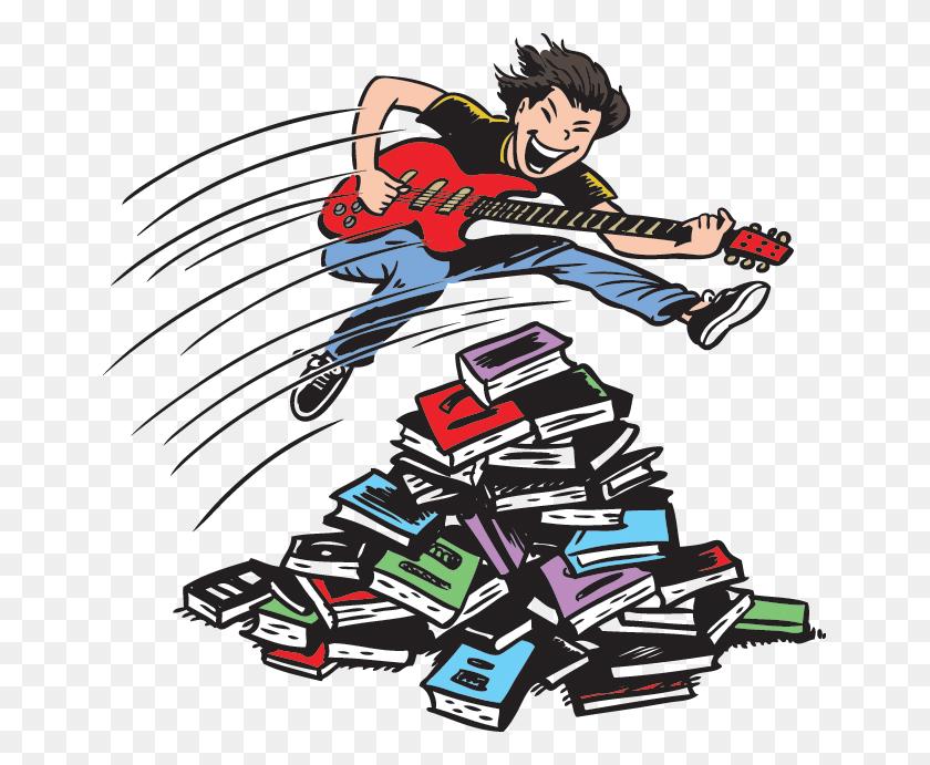 Libraries Rock Tween Readers - Narrator Clipart