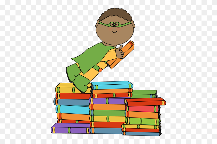 Library Clipart Preschool Book - Preschool Kids Clipart
