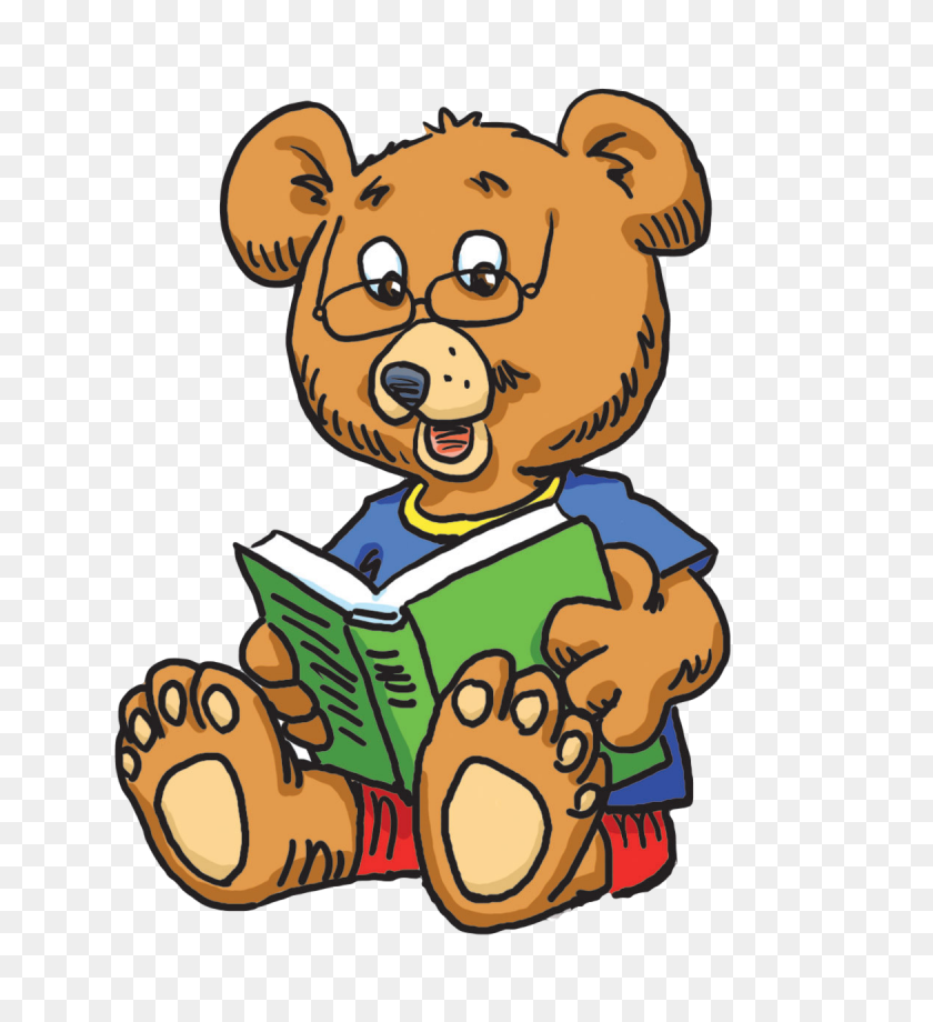 Library Clipart Reader - Reading Book Clip Art