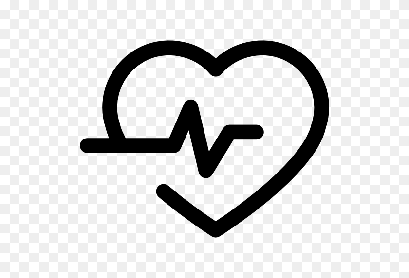 Lifeline In A Heart Outline - Heart Outline PNG