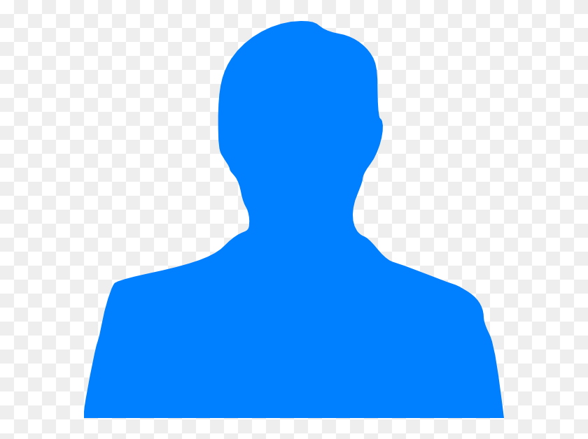 Light Blue Man Silhouette Clip Arts Download - Person Clipart PNG