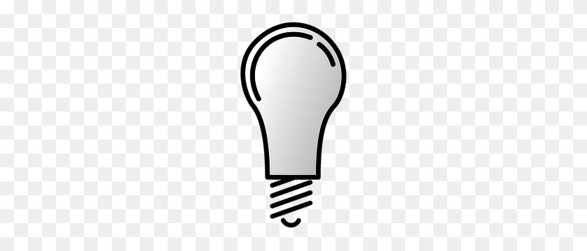Light Bulb Clip Art Black White - Light Bulb Clipart Black And White