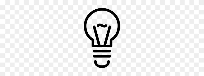 Light Bulb Icon Line Iconset Iconsmind - Light Bulb Icon PNG