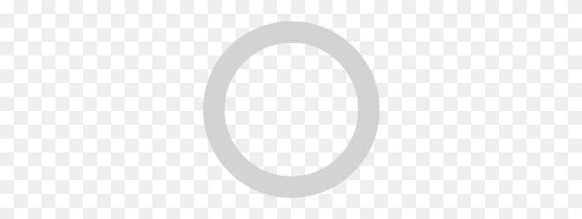 Light Gray Circle Outline Icon - Gray Circle PNG
