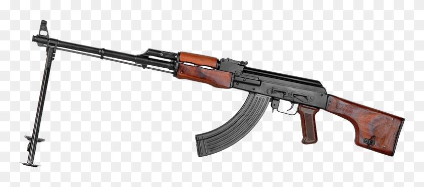 1200x477 Light Machine Gun Rpk - Machine Gun PNG
