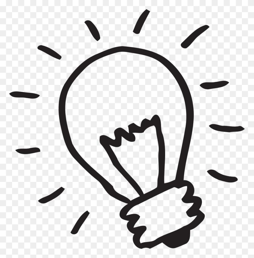 Lightbulb Light Bulb Clip Art To Download - Love Clipart Black And White
