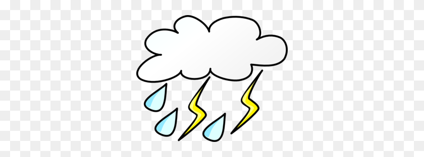 Lightening And Rain Clipart - Rain Clipart Free
