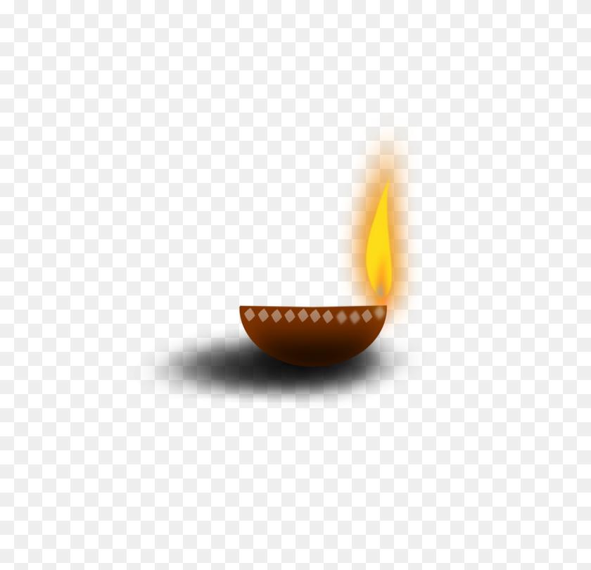 Lighting Oil Lamp Diya - Oil Lamp Clipart