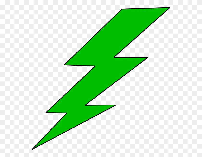 Lightning Bolt Green Lighting Bolt Clip Ar - Peasant Clipart