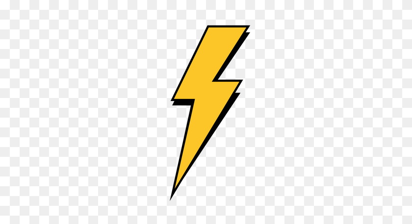 Lightning Bolt Png Free Download - Yellow Line PNG
