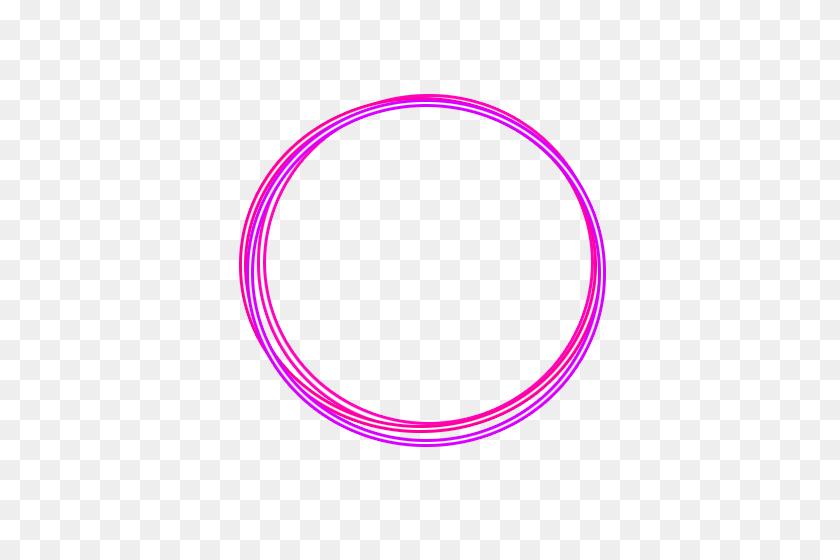 Neon Blue Pink Glow Circle Circleframe Frame Border Cir