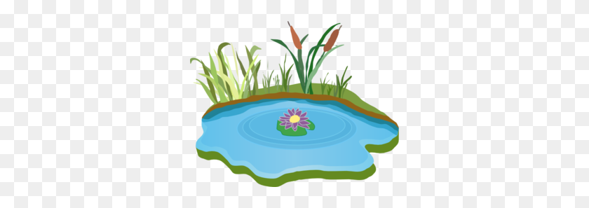 Lily Pad Clipart Pond Border - Frog On Lily Pad Clipart