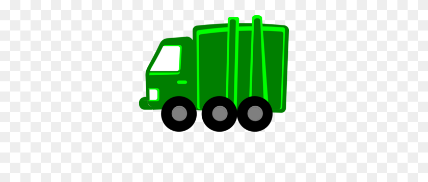 Lime Green Garbage Truck Clip Art - Mail Truck Clipart