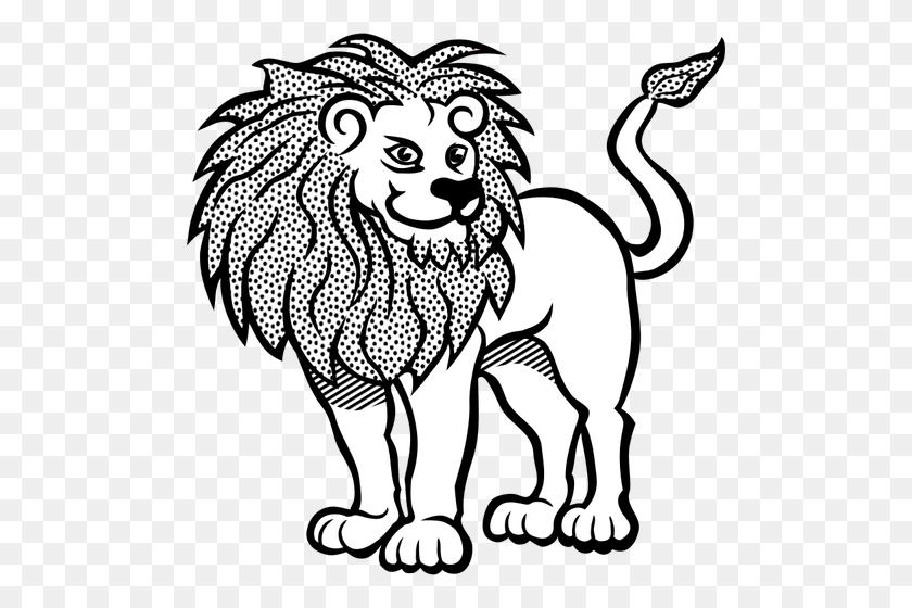 Line Art Lion Vector Illustration - Lion Vector PNG