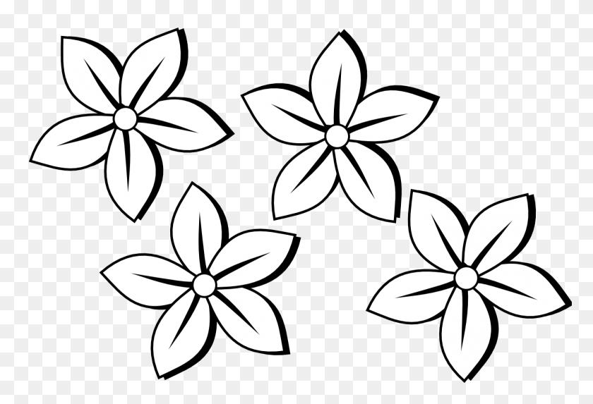 Clip Art Flower Black And White - Flower Pattern Clipart