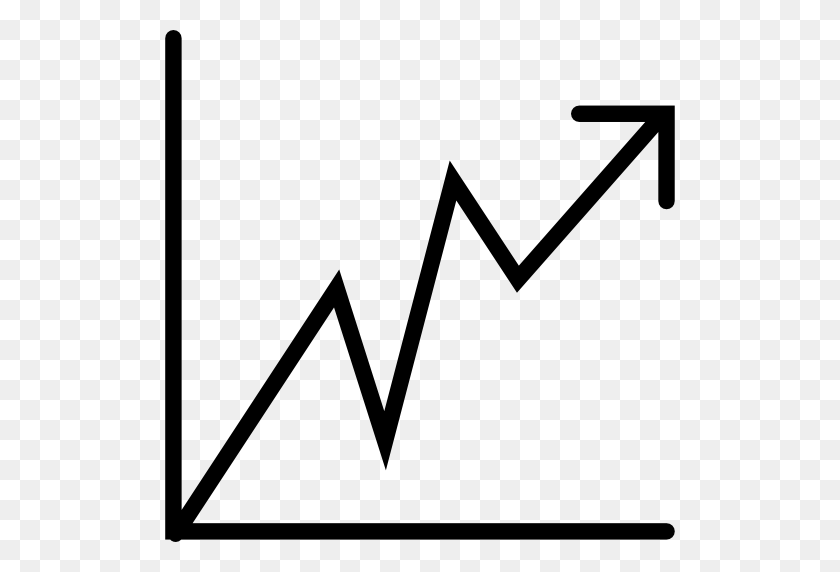 Line Graph With Ascending Arrow - Line Graph PNG