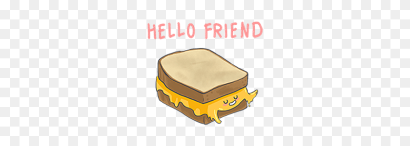 Line Stickers Melty The Delicious Grilled Cheese Free Download - Grilled Cheese PNG